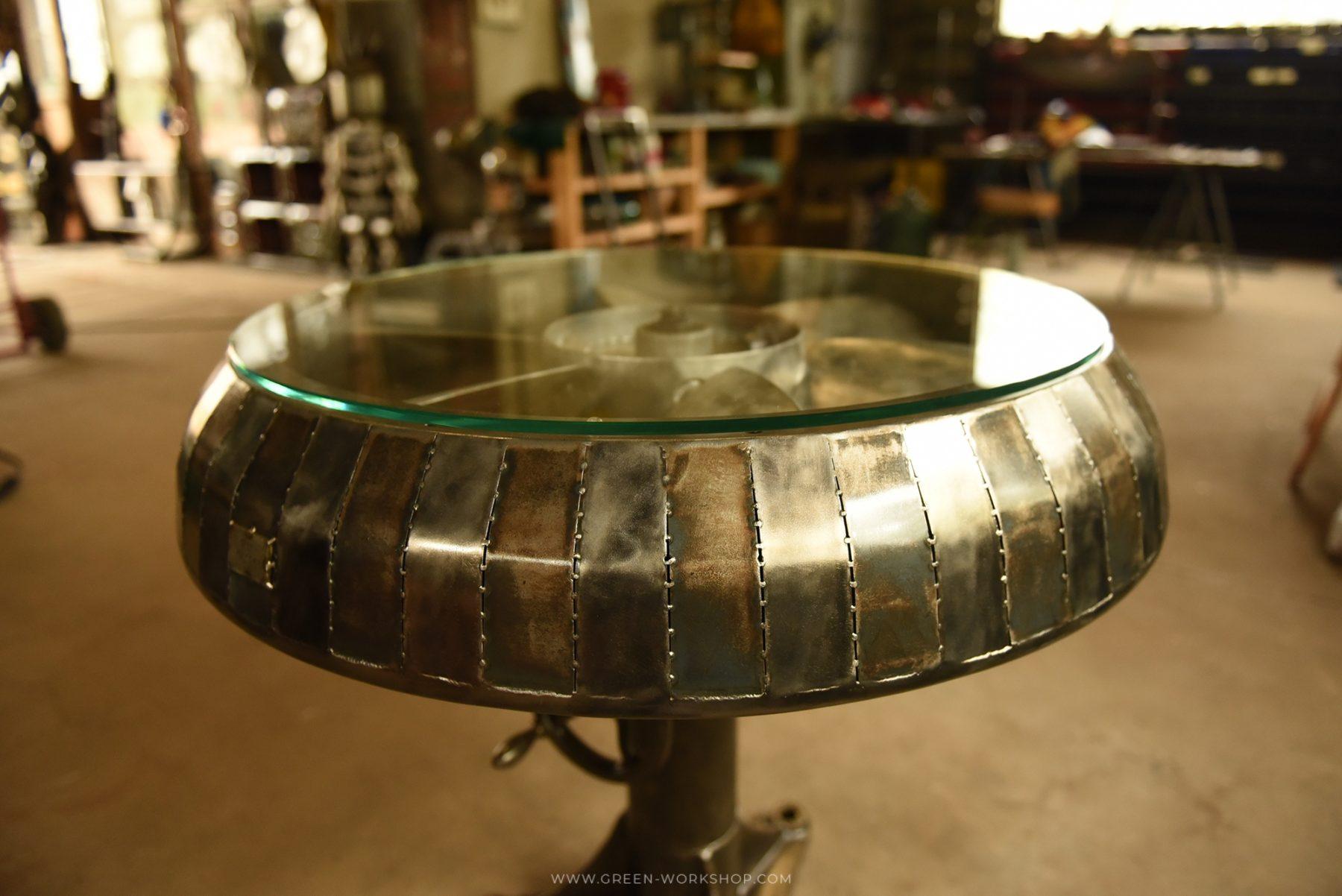 table en métal sur mesure