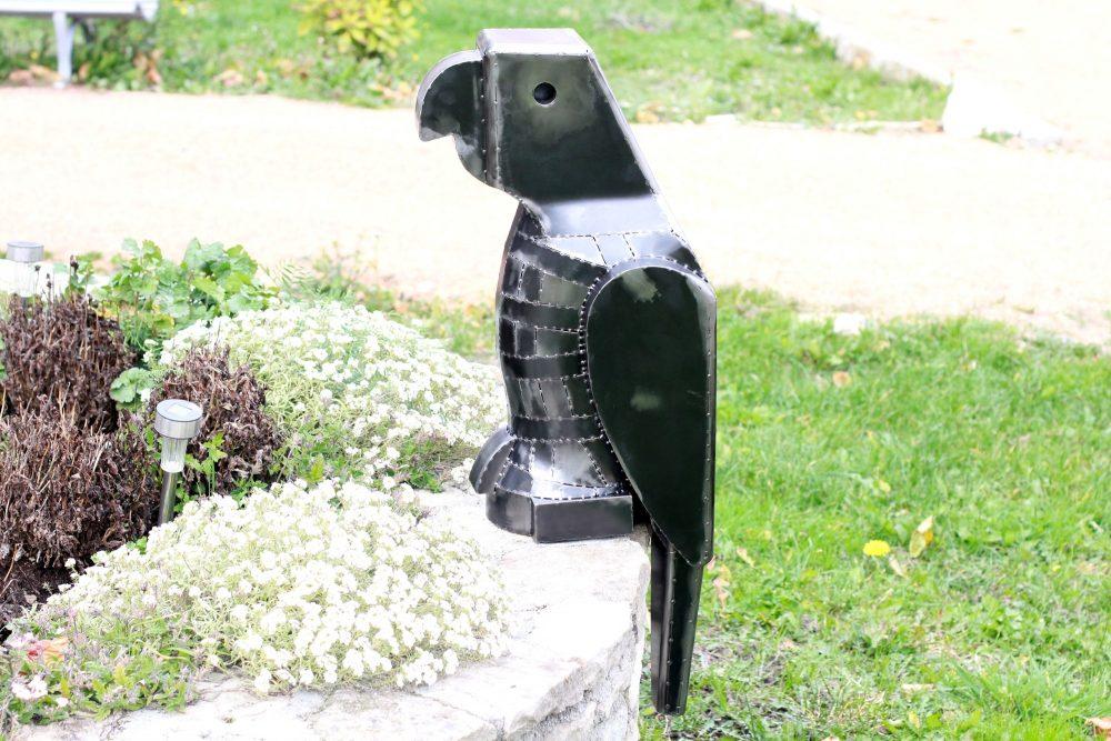 lego perroquet en métal