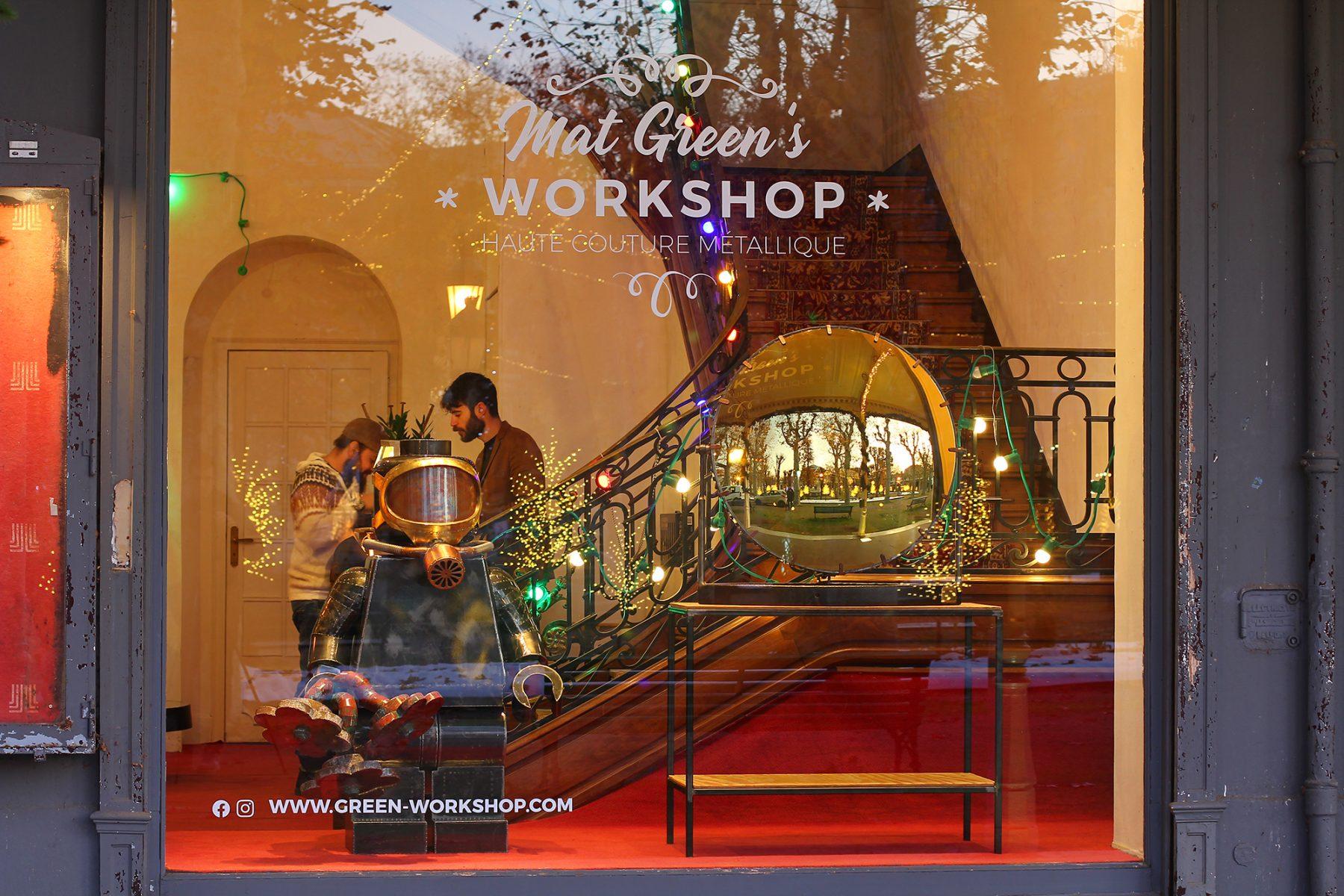 Mat Green's Workshop à Vichy au Fer à Cheval - Showroom éphémère